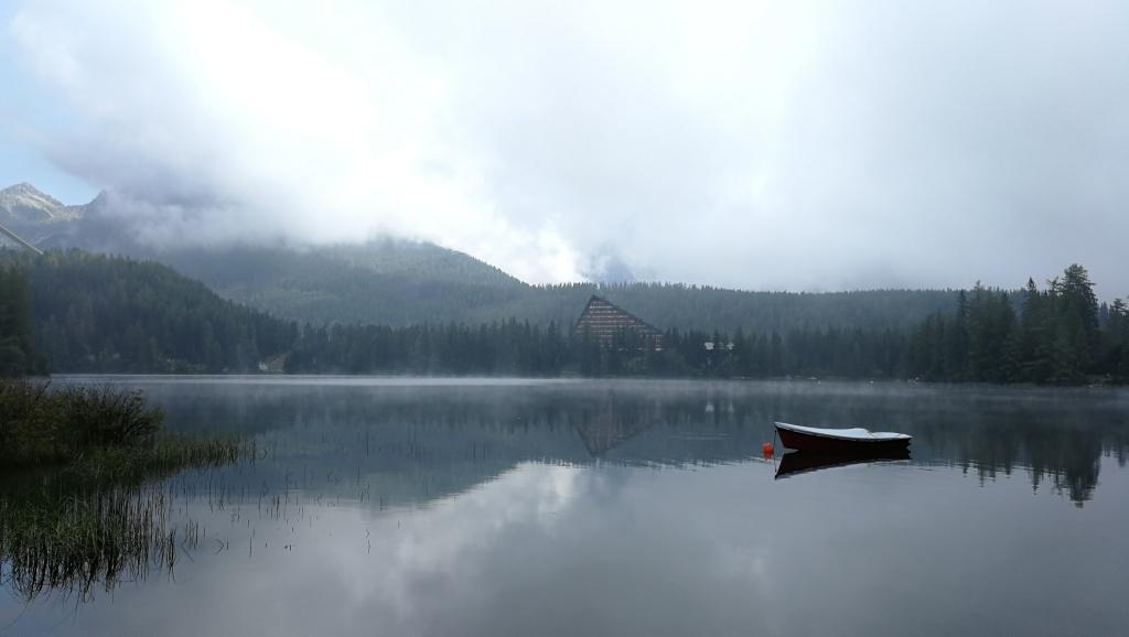 Misty lake Strebske Pleso