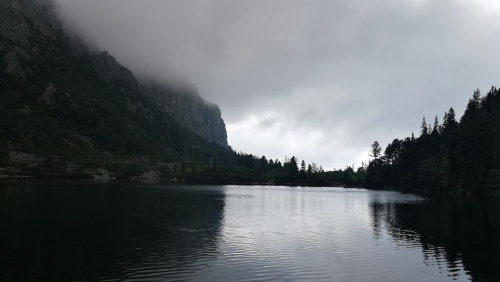 Popradske Pleso mountain lake